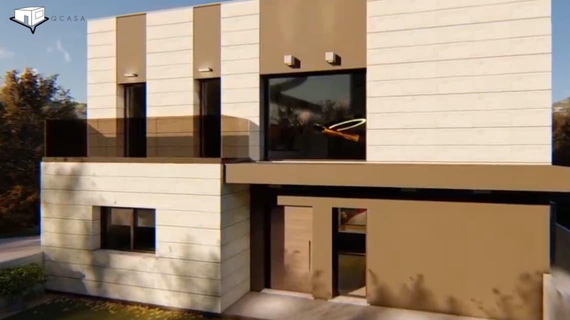 modelos de casas prefabricadas sostenibles, Vivienda Prefabricada Eficiente con el Medio Ambiente