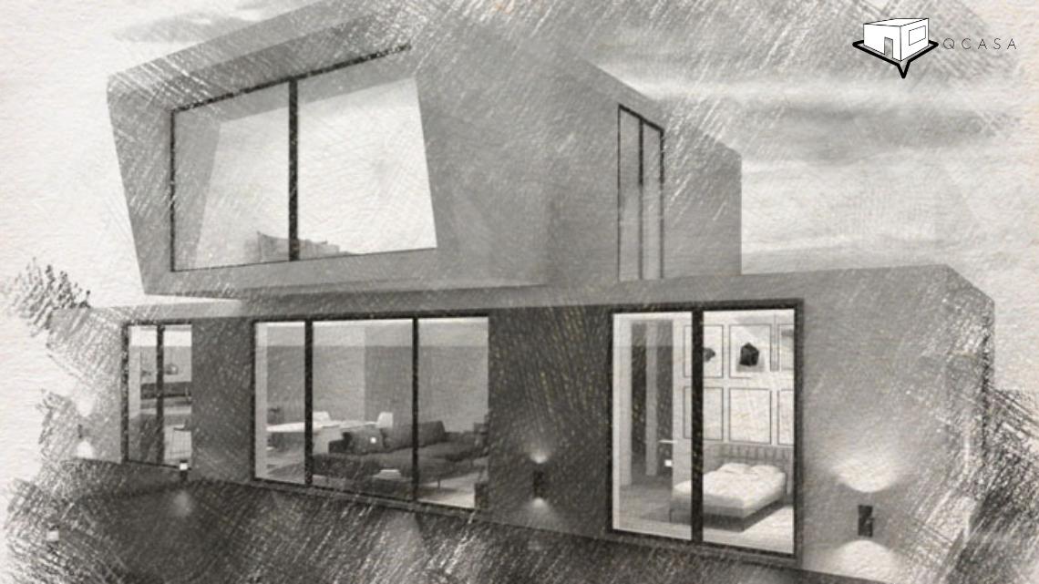 Casa Prefabricada Moderna en Navalagamella