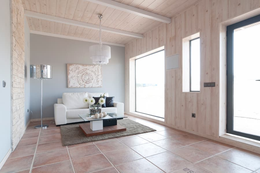 Acabado de diseño clásico de casas prefabricadas